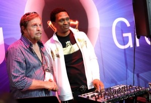 In This Photo: Keith Shocklee, Hartley Peavey Peavey Electronics Corporation CEO Hartley Peavey and musician Keith Shocklee attend the 2015 National Association of Music Merchants show media preview day at the Anaheim Convention Center on January 21, 2015 in Anaheim, California. (Jan. 20, 2015 - Source: Jesse Grant/Getty Images North America)