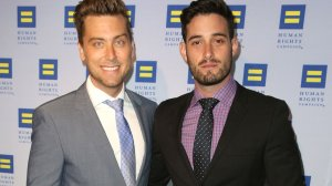 Lance Bass And Michael Turchin Arrive At The 2015 Human Rights Campaign Gala Dinner