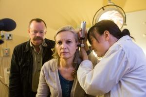 Reenactment of Karrie visiting ear doctor