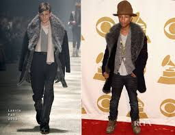 Pharrell Williams joined Anna Kendrick, Katy Perry, Chrissy Teigen and John Legend on the red carpet at 'The Night That Changed America: A Grammy Salute To The Beatles' held at the Los Angeles Convention Center on Monday (January 27) in Los Angeles, California,