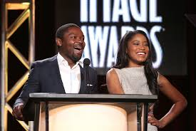 Actors David Oyelowo and Keke Palmer speak onstage during the 'The 45th Annual NAACP Image Awards' nominations announcement at the TV One portion of the 2014 Winter Television Critics Association tour at the Langham Hotel on January 9, 2014 in Pasadena, California