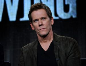 """Kevin Bacon is seen during the panel for """"The Following"""" at the FOX Winter 2014 TCA, on Monday, Jan. 13, 2014, at the Langham Hotel in Pasadena, Calif. The two stars of Fox's creepy thriller """"The Following"""" admit that their show gives them nightmares. Bacon and James Purefoy both said today that the characters stick with them after work. (Photo by Richard Shotwell/Invision/AP)"""