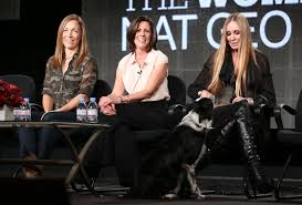 Michelle Oakley, Susan Denicker and Natalie Redding speak onstage during the 'Nat Geo Wild – The Women of Nat Geo WILD' portion of the 2014 Winter Television Critics Association tour at the Langham Hotel on January 10, 2014 in Pasadena, California. (Source: Frederick M. Brown/Getty Images North America)
