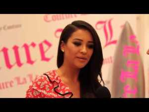 Shay Mitchell knows how to keep a secret, but the Pretty Little Liars star was all for dishing her beauty must haves at Juicy Couture's latest fragrance launch.