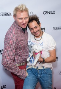 L to R Owner/CEO of Network International Models and Talent  Patrik Simpson and Haute Couture designer Pol Atteu