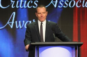 Frederick M. Brown/Getty Images Bryan Cranston, knocking' em dead as the irreverent joke-telling host of the 2012 TCA Awards.