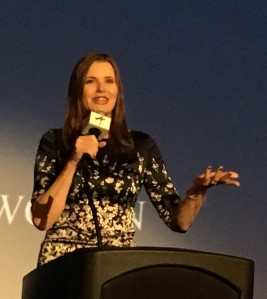 Geena Davis offers keynote for the inaugural ArcLight Presents Women in Entertainment Summit on Thursday. (Photo by Julie Marsh)