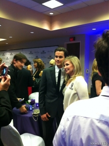 Matt Bomer speaks at the 18th Annual Steve Chase Humanitarian Awards at the Palm Springs Convention Center on February 11, 2012 in Palm Springs, California.