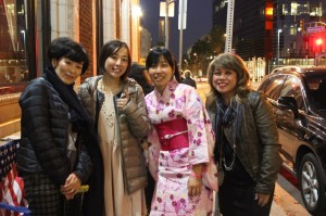 Nori, Mayu (Japan), Yuki (Germany) and Olivia (Oahu, HI) They came from around the world!