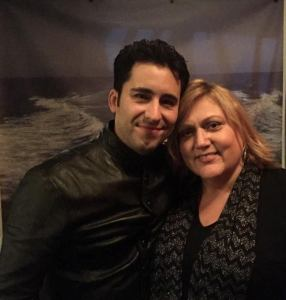 The Fabulous John Lloyd Young and THT reporter Michele Black at the meet and greet!