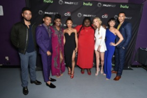 Mandatory Credit: Photo by Rob Latour/REX/Shutterstock (5612887bk) Jussie Smollett, Bryshere Y. Gray, Ta'Rhonda Jones, Serayah, Gabourey Sidibe, Kaitlin Doubleday, Grace Gealey and Trai Byers 'Empire' TV series screening, Arrivals, PaleyFest 2016, Los Angeles, America - 11 Mar 2016