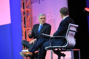 FCC Chairman Tom Wheeler at the National Cable & Telecommunications Association conference in Boston, speaking to C-SPAN Senior Executive Producer