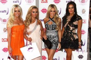 The Desperate Scousewives left to right: Gill, Debbie, Amanda and Elissa