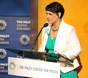 BEVERLY HILLS, CA - JULY 26:  Moderator Stacey Wilson Hunt speaks onstage during a Q&A at PaleyLive's 'An Evening with Ray Donovan' at The Paley Center for Media on July 26, 2016 in Beverly Hills, California. (Photo by Imeh Bryant for The Paley Center)