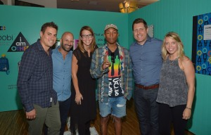 LOS ANGELES, CA - AUGUST 11: (L-R) Target's Lee Ironside, CEO and Co-Founder of Yoobi Ido Leffler, Target's Berit Lewison, Pharrell Williams and Target's John Conlin and Whitney Newman celebrate Yoobi x i am OTHER Presented by Pharrell Williams, a limited-edition collection that gives back to U.S. classrooms in need.>> on August 11, 2016 in Los Angeles, California. (Photo by Charley Gallay/Getty Images for Yoobi) Photo Credit - Getty Images for Yoobi