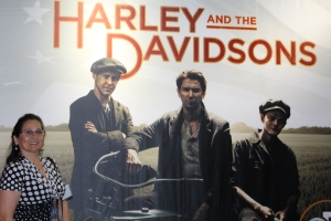 Harley and The Davidsons promo shot with THT Judy Shields