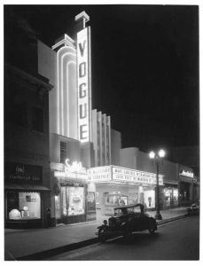 Vogue Theatre, Hollywood Boulevard, 1935.