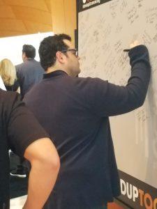 Josh Gad signing SU2C board