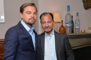 TORONTO, ON - SEPTEMBER 09: (L-R) Producer Leonardo DiCaprio and director Fisher Stevens at the Before the Flood TIFF party hosted by GREY GOOSE Vodka and Soho House Toronto on September 9, 2016 in Toronto, Canada. (Photo by Stefanie Keenan/Getty Images for Grey Goose Vodka )