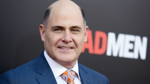 "Matthew Weiner arrives at the Live Read And Series Finale Of ""Mad Men"" held at The Theatre at Ace Hotel on Sunday, May 17, 2015, in Los Angeles. (Photo by Richard Shotwell/Invision/AP)"