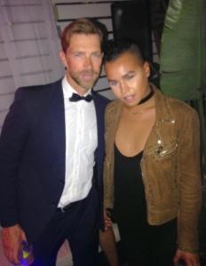 Model/host Ben Lefevre and fashion blogger Jay Strut