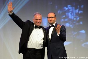 Tim Kaine, Chad Griffin, Human Rights Campaign National Dinner, gay news, Washington