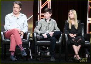 BEVERLY HILLS, CA - AUGUST 04: (L-R) Actors John Ross Bowie, Mason Cook and Kyla Kenedy speak onstage at the 'Speechless' panel discussion during the Disney ABC Television Group portion of the 2016 Television Critics Association Summer Tour at The Beverly Hilton Hotel on August 4, 2016 in Beverly Hills, California. (Photo by Frederick M. Brown/Getty Images)