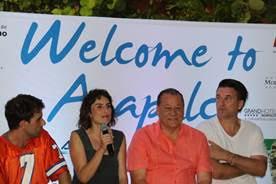 Mike Kingsbaker, Ana Serradilla, Ernesto Rodriguez Escalona and William Baldwin at the press junket in Acapulco.
