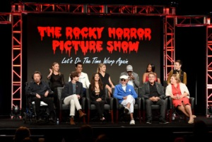 2016 FOX SUMMER TCA: THE ROCKY HORROR PICTURE SHOW: (L-R, Top Row) Cast members Ivy Levan, Staz Nair, Annaleigh Ashford, Ben Vereen, Christina Milian, Reeve Carney, (L-R, Bottom Row) Tim Curry, Ryan McCartan, Victoria Justice and Executive Producers Lou Adler, Kenny Ortega and Gail Berman during THE ROCKY HORROR PICTURE SHOW panel at the 2016 FOX SUMMER TCA, Monday, Aug. 8 at the Beverly Hilton in Beverly Hills, CA. CR: Frank Micelotta/FOX