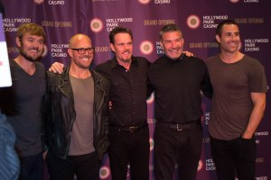 middle: Kevin Dillon and friends