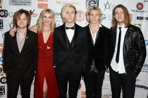 (L-R) Ellington Ratliff, Rydel Lynch, Riker Lynch, Ross Lynch, and Rocky Lynch of musical group R5 arrive at the World Choreography Awards at The Ricardo Montalban Theatre on November 16, 2015 in Hollywood, California. (Nov. 15, 2015 - Source: Matt Winkelmeyer/Getty Images North America)