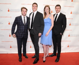 "(L-R)  Zak Williams, William Reeve, Alexandra Reeve Givens, Matthew Reeve attend The Christopher & Dana Reeve Foundation Hosts ""A Magical Evening"" on November 20, 2014 in New York City.  (Photo by Ilya S. Savenok/Getty Images)"