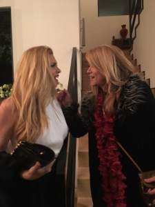 Candis Cayne and Milano happy to share GLAAD Tidings and Cayne's new adventures