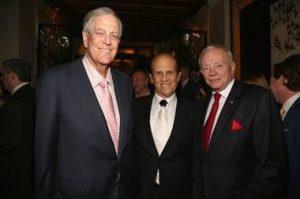 David Koch, Mike Milken, Jerry Jones (Photo Credit: Patrick McMullan)