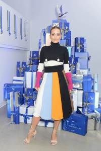 Rita Ora attends a private preview of the Grey Goose Le Marché Bleu, opening this weekend in NYC