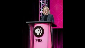 President and CEO Paula Kerger speaks at the PBS Executive Session at the 2017 Television Critics