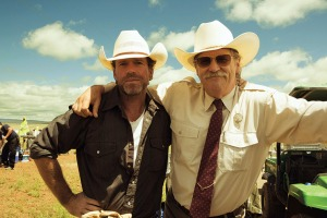 Sheridan (left) with Bridges, whose character was based on the screenwriter