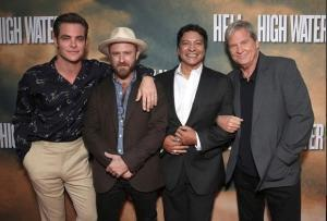 Todd Williamson / Getty Images Chris Pine, Ben Foster, Gil Birmingham and Jeff Bridges attend a Screening Of CBS Films' 'Hell Or High Water' at the ArcLight Hollywood on August 10, 2016 in Hollywood, California.