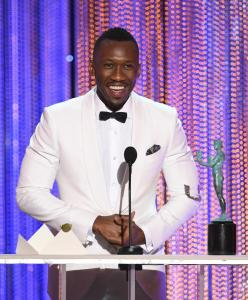 Mahershala Ali Actor Mahershala Ali accepts Outstanding Performance by a Male Actor in a Supporting Role for 'Moonlight'