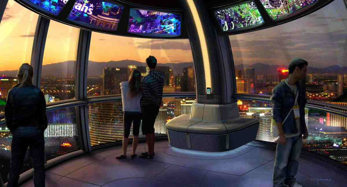 Dreamers Perform Inside The High Roller Cabin, 550 Feet Above the Las Vegas Strip