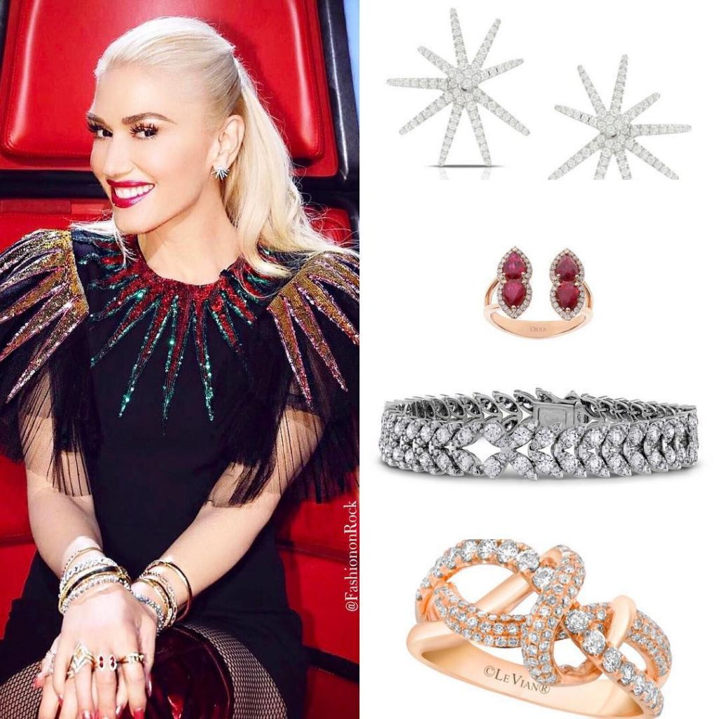 Gwen Stefani and Hearts On Fire on the Voice