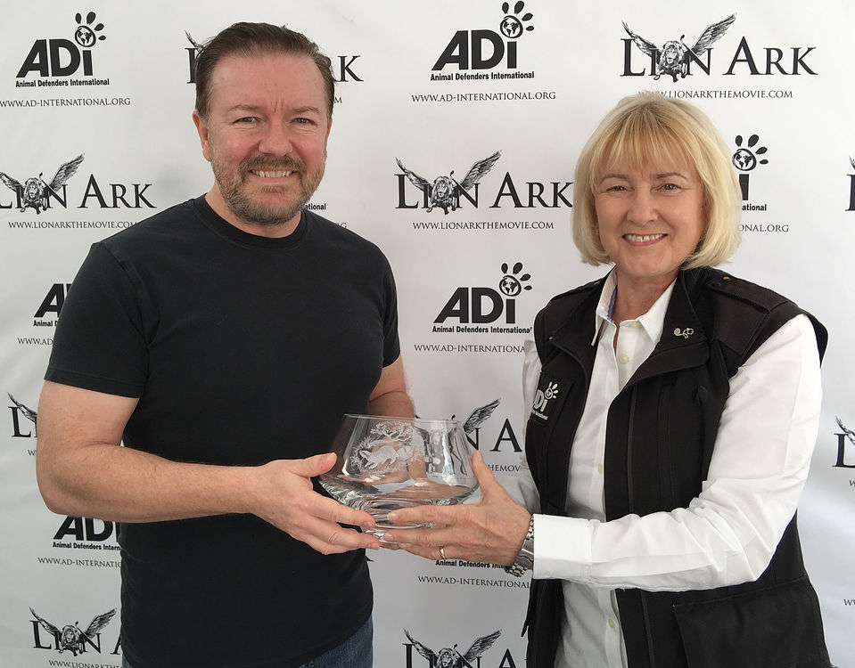 Ricky Gervais Awarded For Animal Protection Advocacy