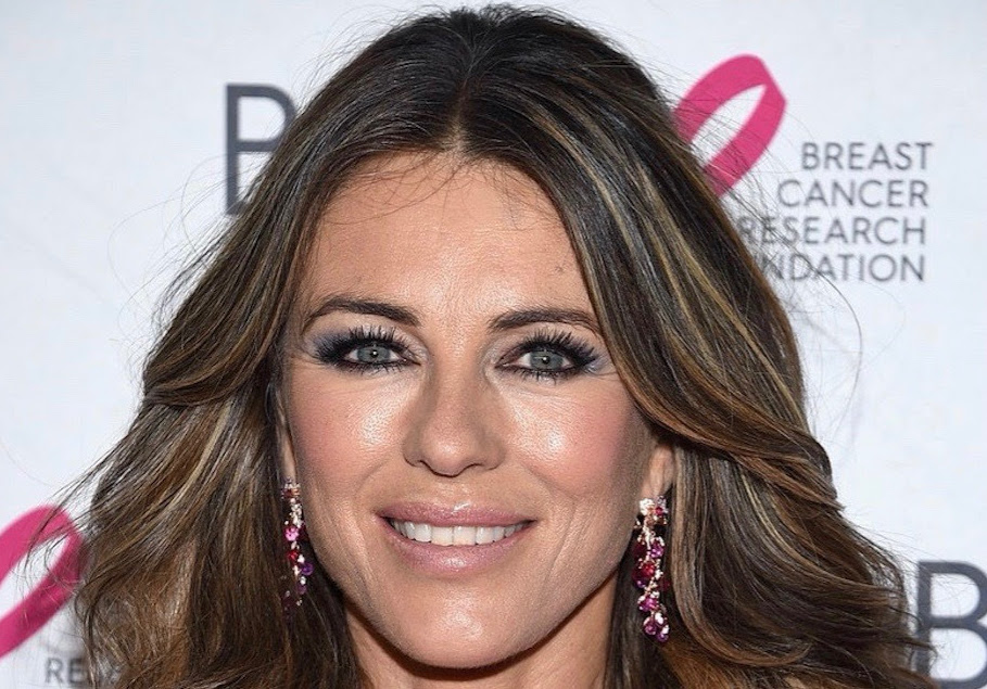 Elizabeth Hurley Wears Anabela Chan Ruby Coralbell Earrings