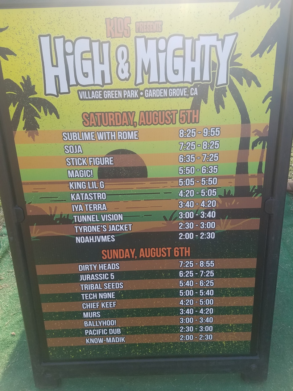 KLOS High & Mighty Bands