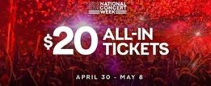 Live Nation Launches 'National Concert Week' With $20 All-In Ticket Offer  Celebrating Kickoff to Summer Season